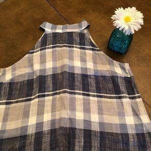 Cloth & Stone plaid linen top
